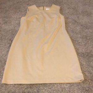 Camel Calvin Klein pencil dress.